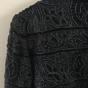 Silver Beaded Evening Jacket